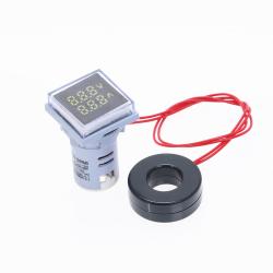AC 60-500V 0-100A - kwadratowy podwójny wyświetlacz woltomierz LED - miernik napięcia - miernik pomiarowy