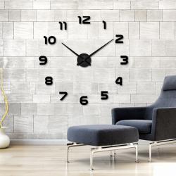 Horloge à mur adhesif 3D en acrylique