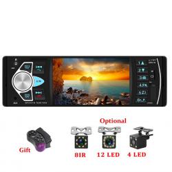 Radio de coche Bluetooth - din 1 - pantalla de 4 pulgadas - MP3 / MP5 - cámara trasera - control remoto del volante