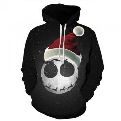 3D Christmas Halloween Skull print - hoodie - unisex