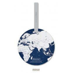 World map - id address holder - luggage tag - travel accessories
