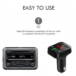 MP3 Car Audio Player Bluetooth FM Transmitter Wireless FM Modulator LCD Display USB Charger