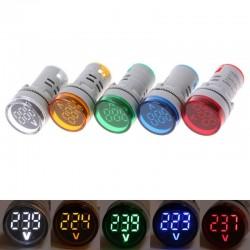 Indicateur tension 60-500V AC 22mm LED digital display - gauge voltage