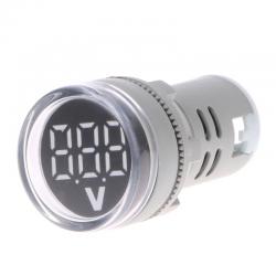 22mm LED affichage numrique jauge volts tension compteur indicateur lampe de Signal voltmtre lumi
