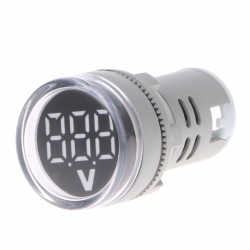 22mm LED Digital pantalla medidor voltmetro voltaje indicador lmpara voltmetro luces probador Com