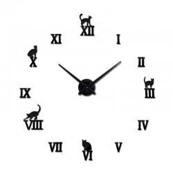 Reloj de pared adhesivo 3D con animales