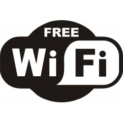 1 stks Zwart GRATIS WiFi VINYL Sticker Teken Window Cafe Restaurant Bar Pub Shop Internet Winkel Gla