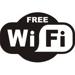 Autocollant FREE WIFI