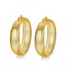 Wydrążone złote obręcze - kolczyki ze stali nierdzewnej