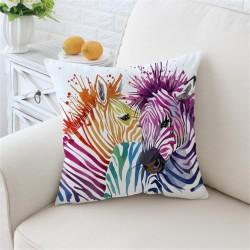 Taies d'oreiller safari zèbres colorès