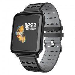 Smartwatch avec pedomètre et moniteur cardiaque Q8 IP67 impermèable bluetooth