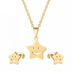 Set bijoux collier et pendentifs d'or et argent