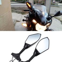 Miroirs rètroviseura avec lumière pour moto Kawasaki 2 pcs