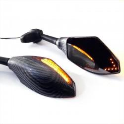 Miroirs pour moto avec indicateurs directionnels LED 2 pcs