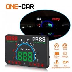 GEYIREN E350 OBD2 II HUD 5.8-calowy ekran - alarm przekroczenia prędkości i zużycie paliwa - wyświetlacz samochodowy