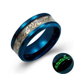 Luminous dragon - stainless steel ring
