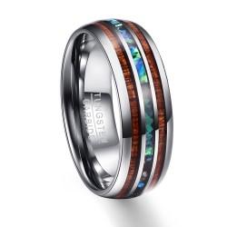 Houtnerf Polijsten Mannen Ringen Midden 100 Tungsten Carbide Wedding Bands Multi-size Anillos para