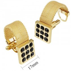 Luxury gold cufflinks with onyx stone