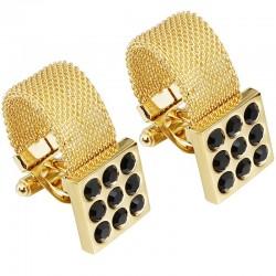 Luxury gold cufflinks with onyx stone