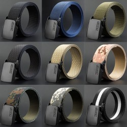 Adjustable nylon belt with automatic buckle