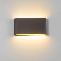 Moderne 6W - 12W LED binnen - buiten wandlamp waterdicht IP65