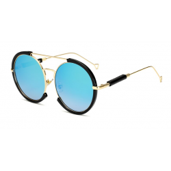 LongKeeper Ovale Sonnenbrille Mnner Frauen Steampunk Brille Doppelstrahl Vintage Metallrahmen Sonne