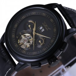 Horloge authomatique mècanique de cuir