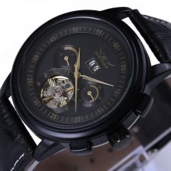 Skórzany mechaniczny zegarek automatyczny