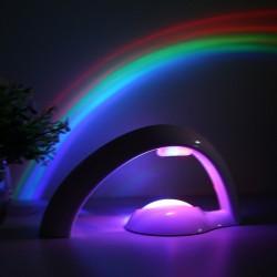 Kolorowy tęczowy projektor LED - lampka nocna