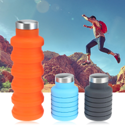 500ML portable silicone water bottle