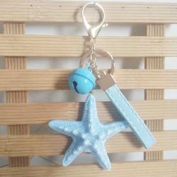 Brelok do kluczy z rozgwiazdą i perłami