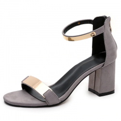 Shiny medium heel sandals