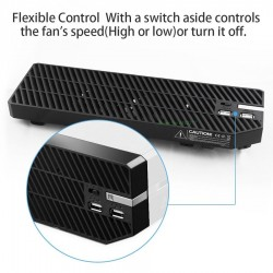 Xbox One cooling fan - 2 low noise ventilators - 2 USB ports and adjustable speed