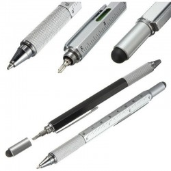 Multifunction pen with a ruler & screwdriver & spirit level