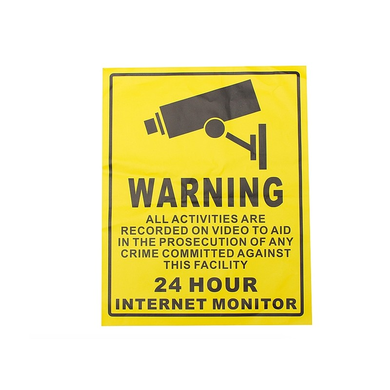Security Camera Warning Sticker