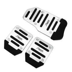 Cubierta de pedal antideslizante para pie de automóvil - aluminio 3 piezas