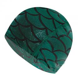 Nylonowy czepek pływacki z wzorem syreny - unisex