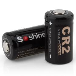 CR 2 - Batterie 3V 1000mAh 2 pièces