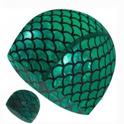 Bonnet de bain en nylon avec motif sirène - unisexe
