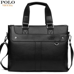 Polo - klassische breite Ledertasche