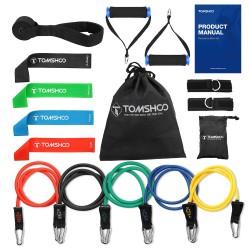 Bandas de resistencia de yoga y fitness - 17 piezas con bolsa