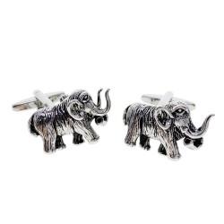 Gemelli alla moda con mammut argento