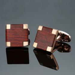 Eleganti gemelli quadrati in fibra di carbonio