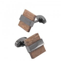 Fashion wooden square cufflinks