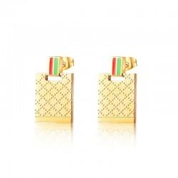Luxe gouden roestvrijstalen oorbellen
