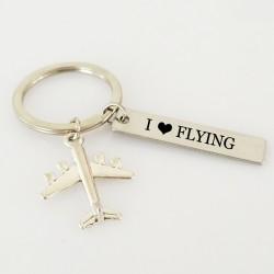 I love flying Schlüsselring Schlüsselanhänger