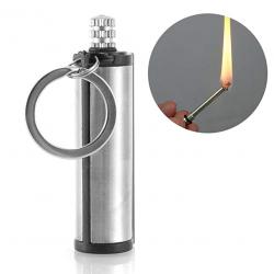 Feuerzeug aus Metall-Feuerstein - Camping - Notfall-Feuerstarter - 1500 Mal