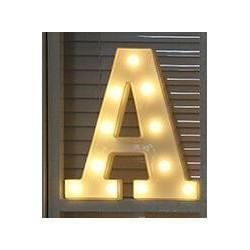 Świecące litery i cyfry - lampka nocna LED - alfabet
