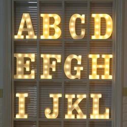 Lettres et chiffres lumineux - Veilleuse LED - Alphabet