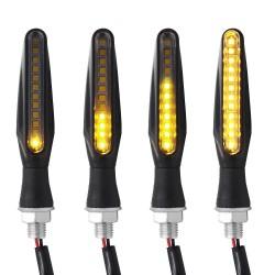 12 LED - kierunkowskazy motocyklowe - wskaźniki dla Kawasaki i Harley 2 szt